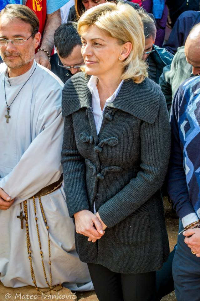 Foto da aparição de nossa senhora à vidente Mirjana