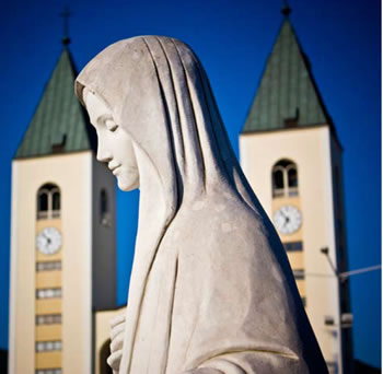 Estátua de Nossa Senhora Medjugorje